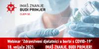 """Uključite se na webinar """"Zdravstveni djelatnici u borbi s COVID- 19"""""""