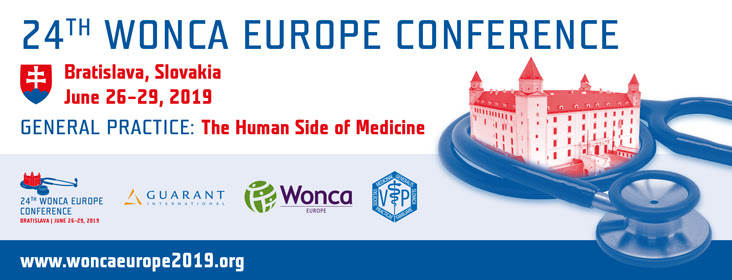 24th WONCA Europe Conference / June 26 – 29, 2018 / Bratislava / Slovakia / SUBMIT YOUR ABSTRACT TODAY!