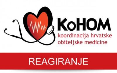 Reagiranje KoHOM-a zbog ministrovog ignoriranja problema u primarnoj zdravstvenoj zaštiti